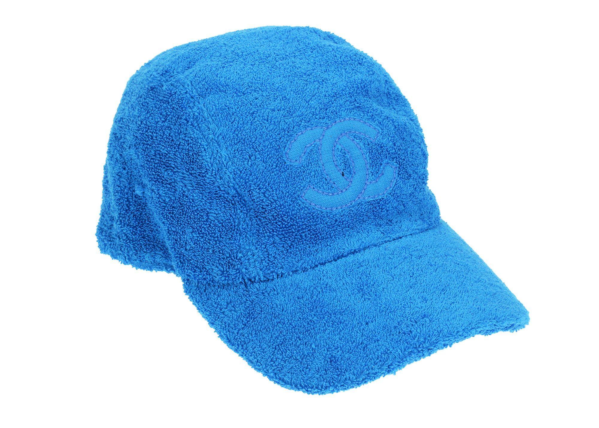 5ebc4f26e Chanel Blue Terry Cloth CC Baseball Cap | Chanel | Chanel hat ...