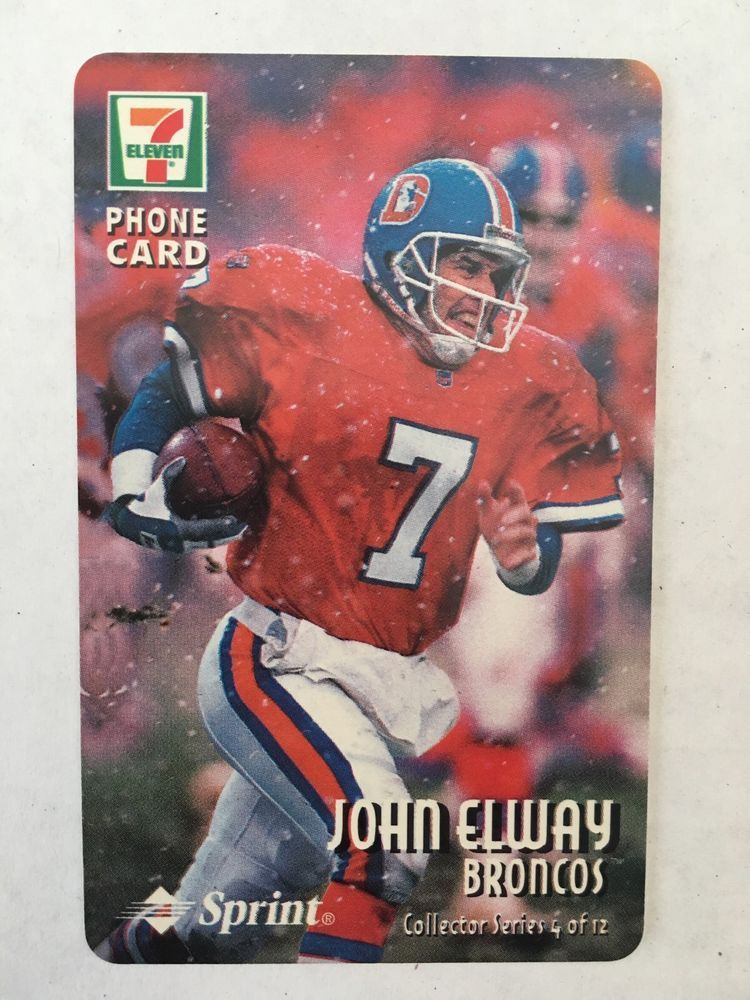 John Elway Sprint 7 Eleven Phone Card Rare Unused 15 Min Collector