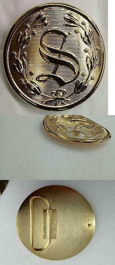 Belt Buckles 86647: 5 1 2 Santa Belt Buckle Gold Plated Fits 3 3 4 Belt -> BUY IT NOW ONLY: $75 on eBay!