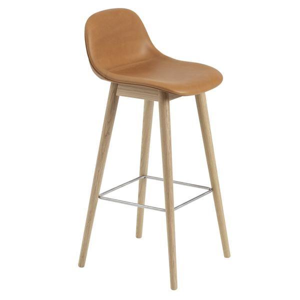 Wondrous Fiber Bar Stool W Backrest Wood Base Upholstered Bar Evergreenethics Interior Chair Design Evergreenethicsorg