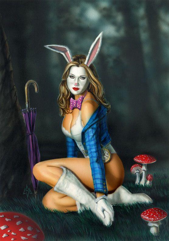 Bunny Girl Fiona Stephenson Pinup Art Nubile Films 1