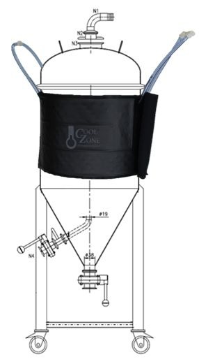 Conical Cooling Jacket Fermentation Winemaking Brewing