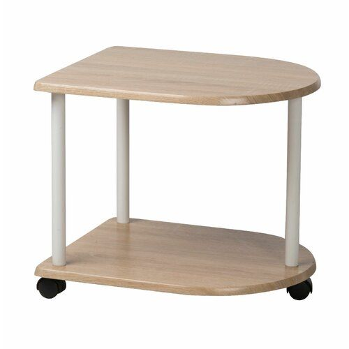 Symple Stuff 2 Tier Side Table Serving Cart Wine Bottle Storage Wooden Kitchen Wooden Shelves