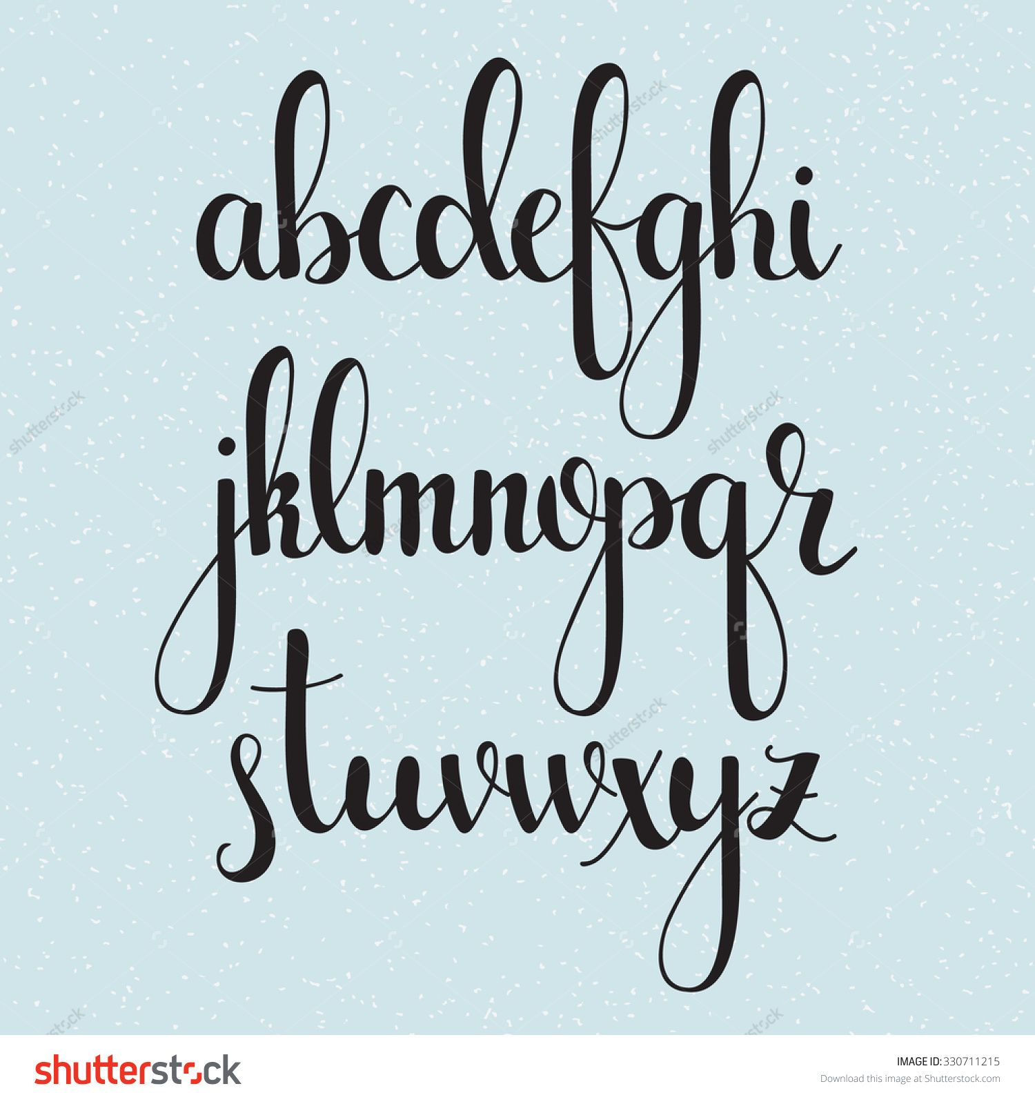 calligraphy style of writing alphabets preschool