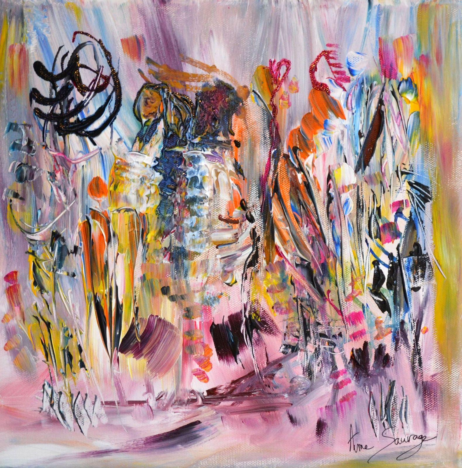 peinture abstraite moderne coloree et