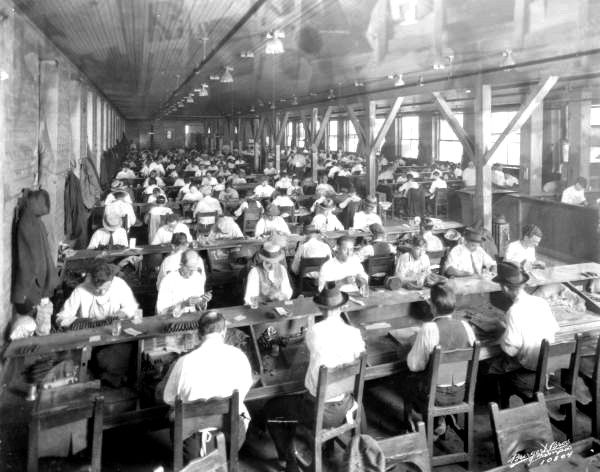 What types of factories did children work in around the 19th century?