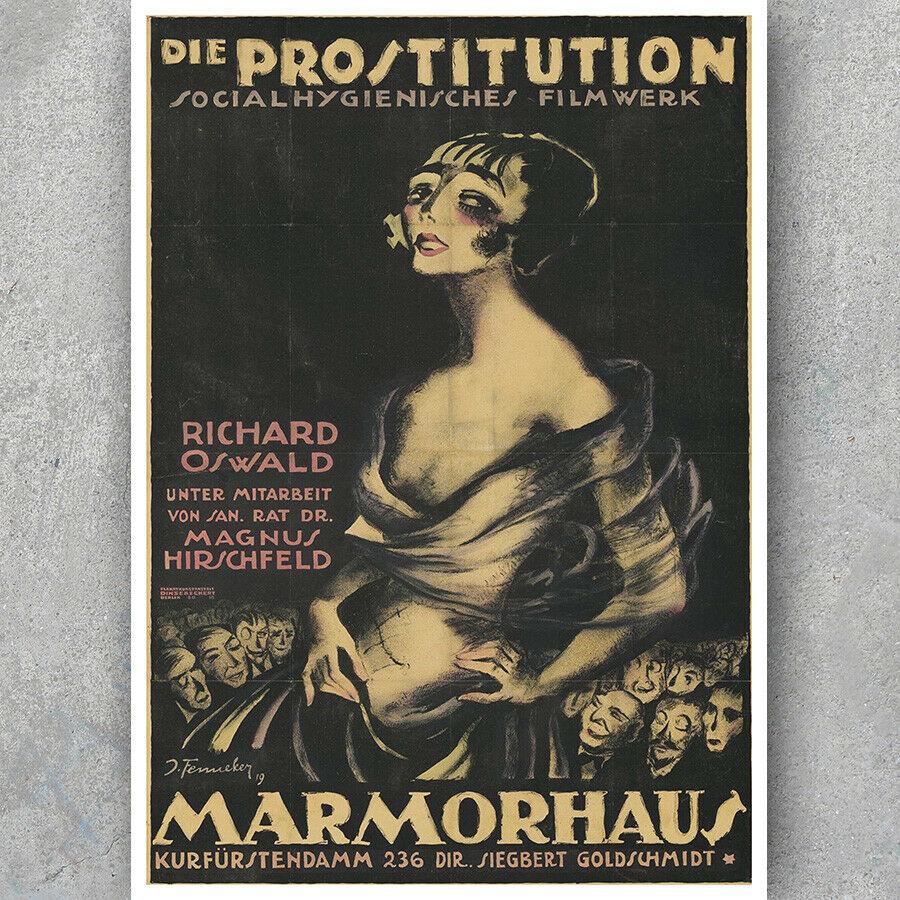 A3 A6 Vintage Movie Poster - DIE PROSTITUTION - 1919 German Silent Film Print | eBay
