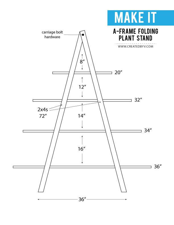 DIY: A-Frame Folding Plant Stand - created by v.