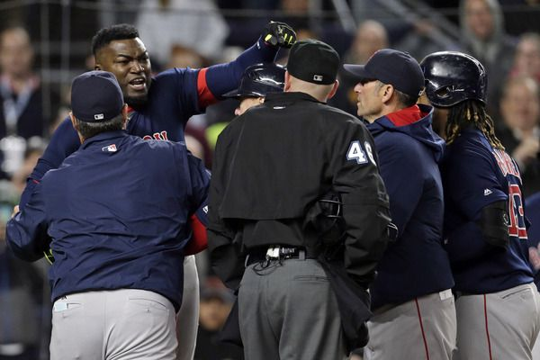 The Yankees present to Ortiz on his retirement tour? An opportunity to go ballistic on someone, one last time. - Curtis