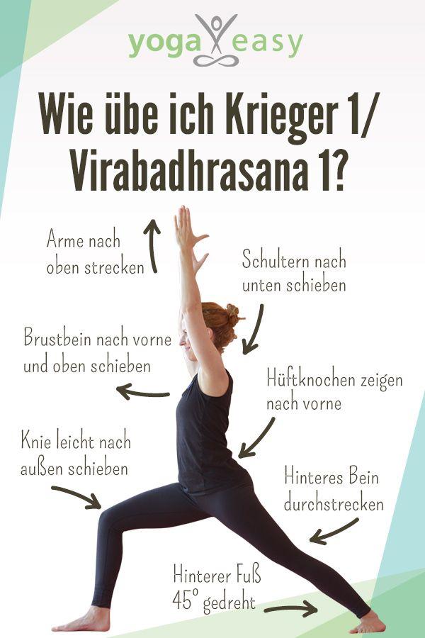 Yoga-Übung: Anatomisch korrekt in Krieger I | Pinterest | Yoga ...