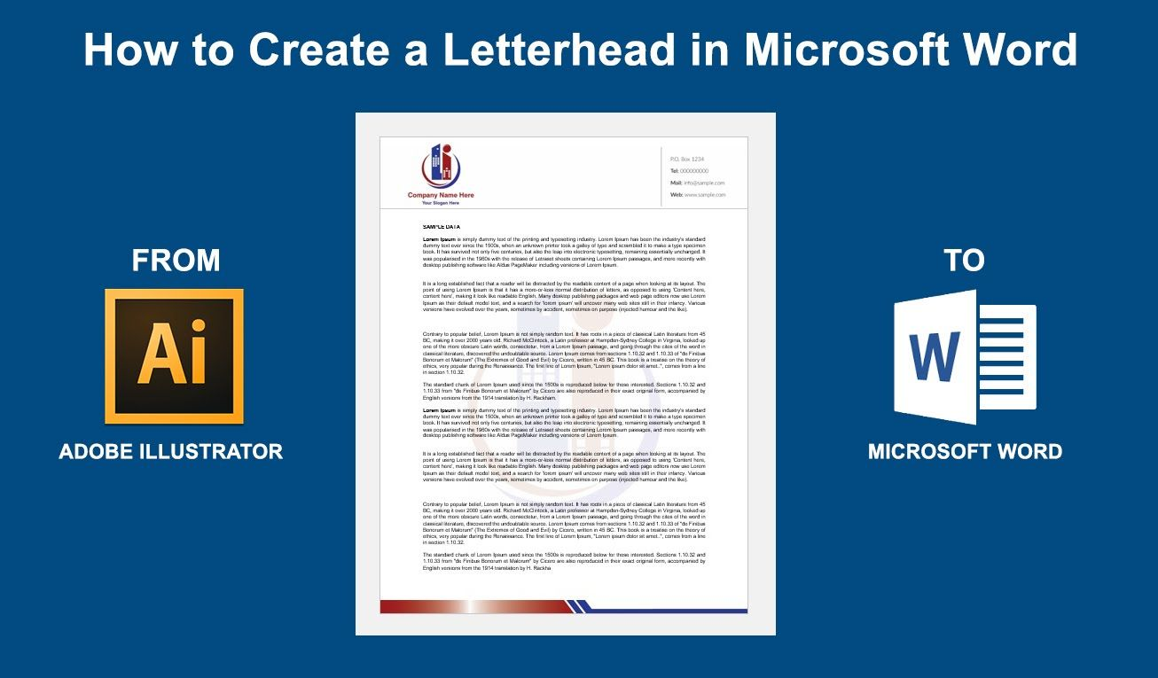 Making A Letterhead In Word For Mac Leetwist S Blog Throughout How To Create A Letterhead Template In Word Create Letterhead Letterhead Template Words