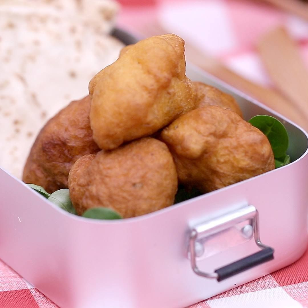 Les lunchboxes Ethonnantes : accras croustillants au thon sauce tomate origan