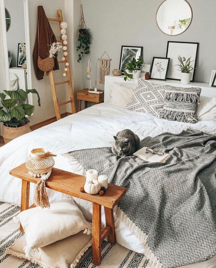 Böhmische Art-Ideen für Schlafzimmer-Dekor-Design #cozybedroom Böhmische Art-…
