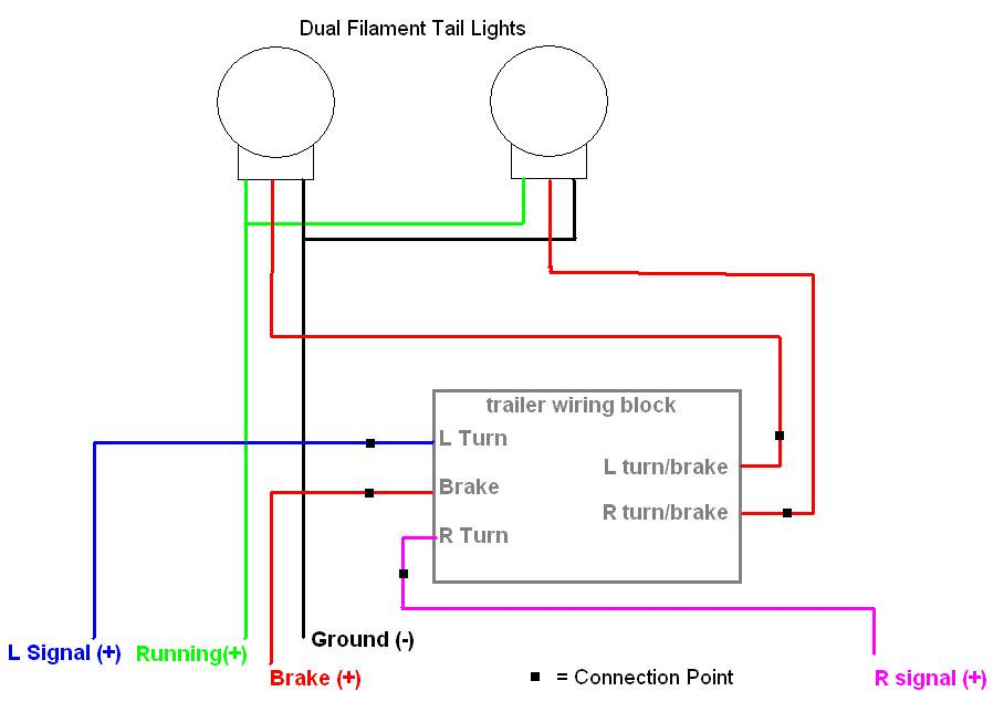 Wiring Diagram For Trailer Light 6 Way Trailer Light Wiring Trailer Wiring Diagram Utility Trailer
