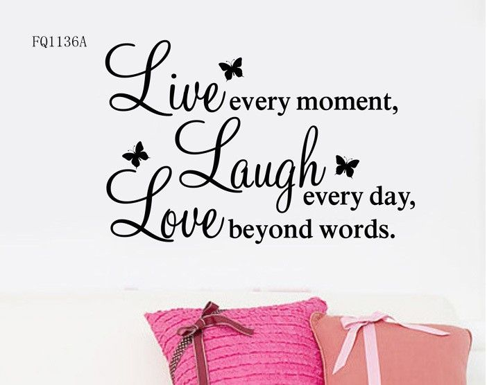 Details About LIVE LAUGH LOVE Wall Quote Stickers Removable Vinyl - Wall decals live laugh love