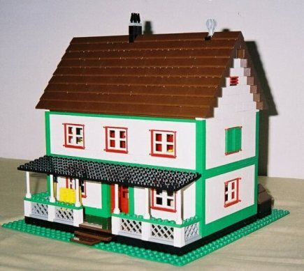 front of the Farmhouse model | Lego Instructions and Ideas ...