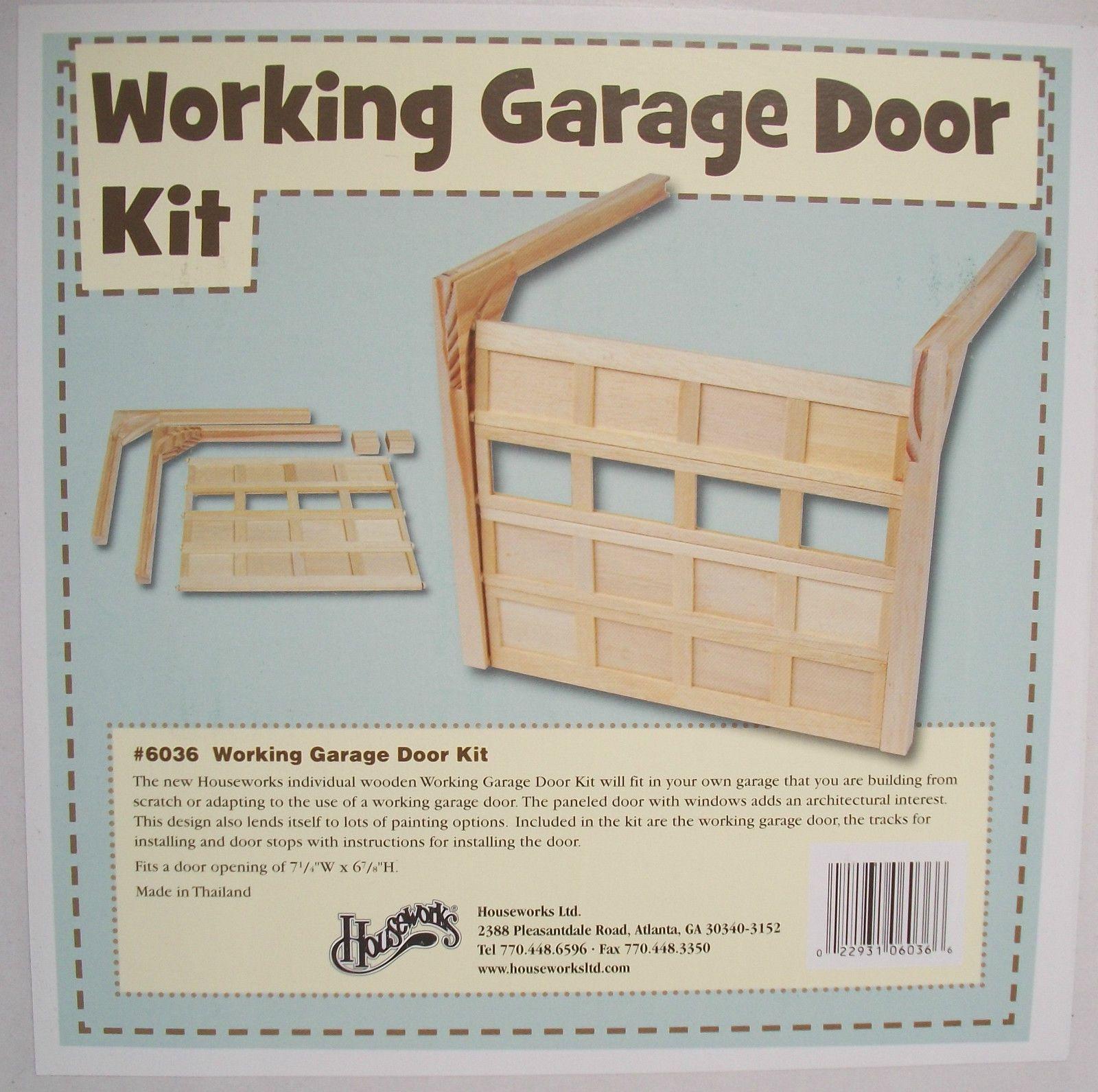 Garage Door working Kit 6036 dollhouse miniature 1 12 scale Houseworks wood