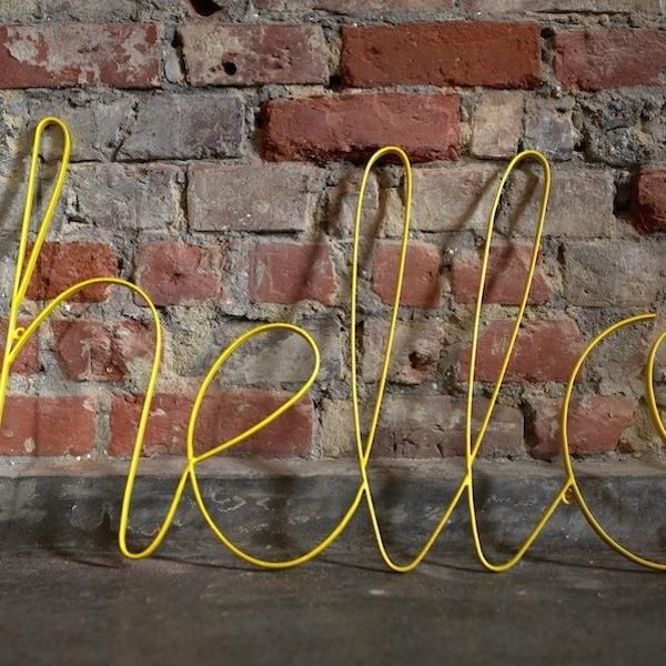 Hello Wire Sign For Wall Art Hello Sign Vintage Inspired Signs Girls Room Design
