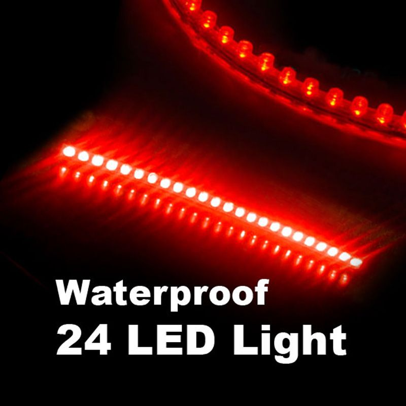 Led Strip Lights For Cars Waterproof 24 Leds Flexible Auto Car Decorative Led Strip Light 24Cm