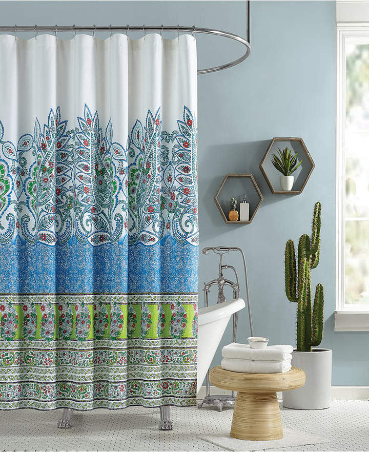 Jessica Simpson Valdivia Lined Cotton Shower Curtain Bedding