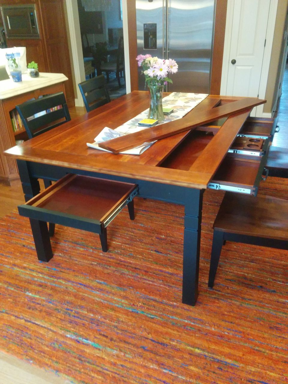 Rob S Gaming Kitchen Table The Wood Whisperer Gaming Table Diy