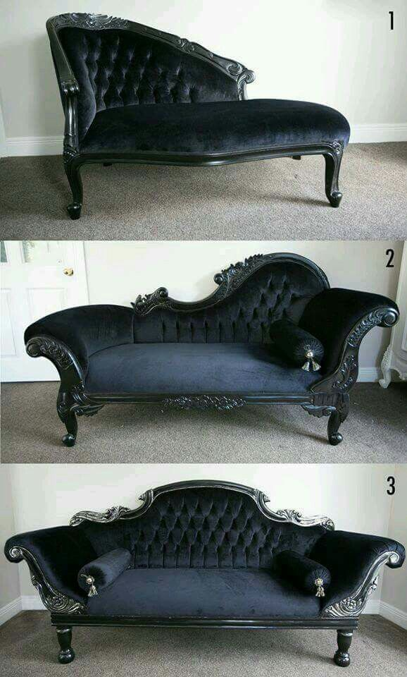 Pin By Onlyrebels On Have A Seat Victorian Couch Goth Home Decor Victorian Furniture