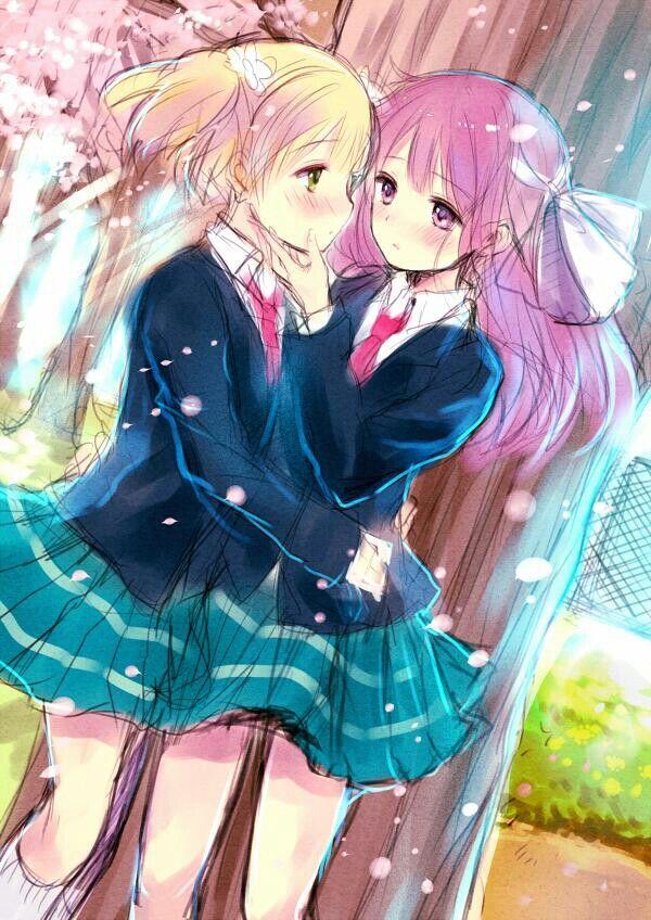 Cute Lesbian Anime Sakura Trick