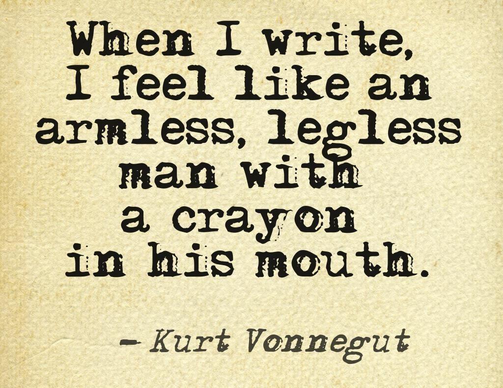 Motivation Monday Kurt Vonnegut Writing Quote Poetry Inspiration Essays