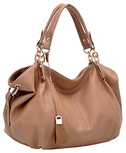 Montrimori Montmo Women Soft Leather Handbags Casual Simple Hobo Style  Shoulder Bags Tote Cross Body Purses 98e83fae9f469