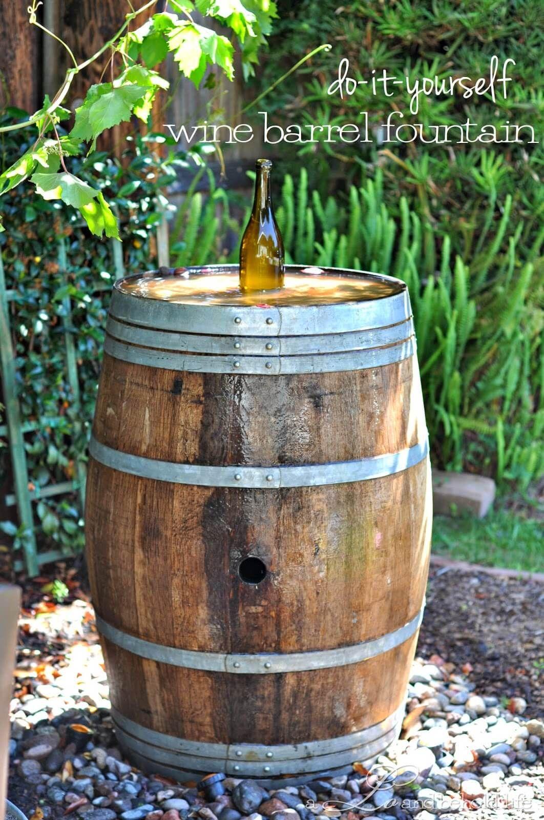 Nectar Of The Gods Wine Barrel Fountain