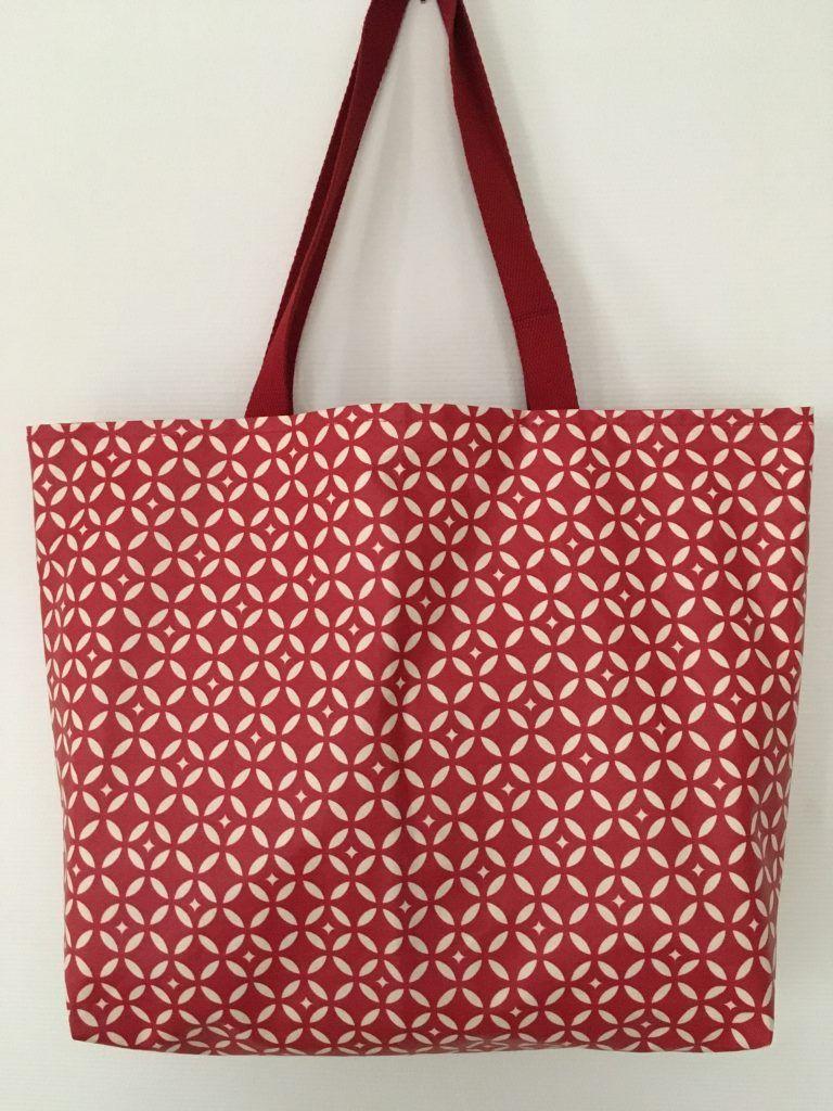 Le sac cabas mosaique tout simple en coton enduit
