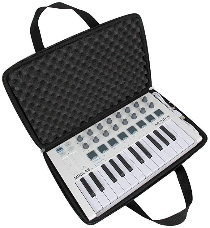 Hermitshell Travel Case For Arturia Minilab Mkii 25 Slim Key Controller Musical Instruments Travel Case Arturia Case