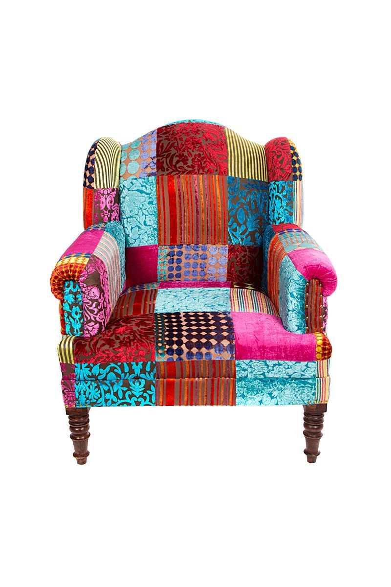 Velvet patch maharaja chair i want this so bad but no way for Funky furniture