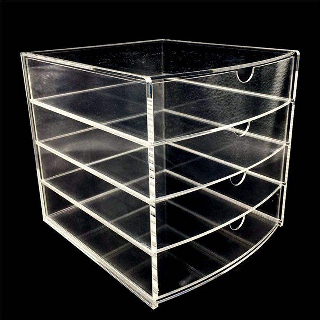 Immi Living Cosmetic Organizer Acrylic Makeup Case Drawers Box Jewelry Storage Clear Cabinet Amazon Ca Home Kitchen Jewelry Organizer Storage