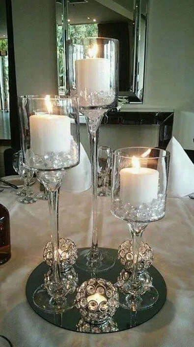 31 Christmas Table Centerpieces Wine Glass Candle Holders 26 Candle Decor Wine Glass Candle Holder Wine Glass Candle