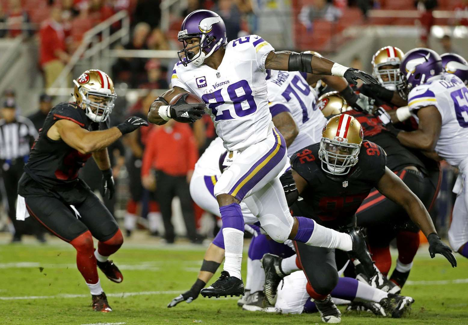 Adrian Peterson back in action Minnesota Vikings running