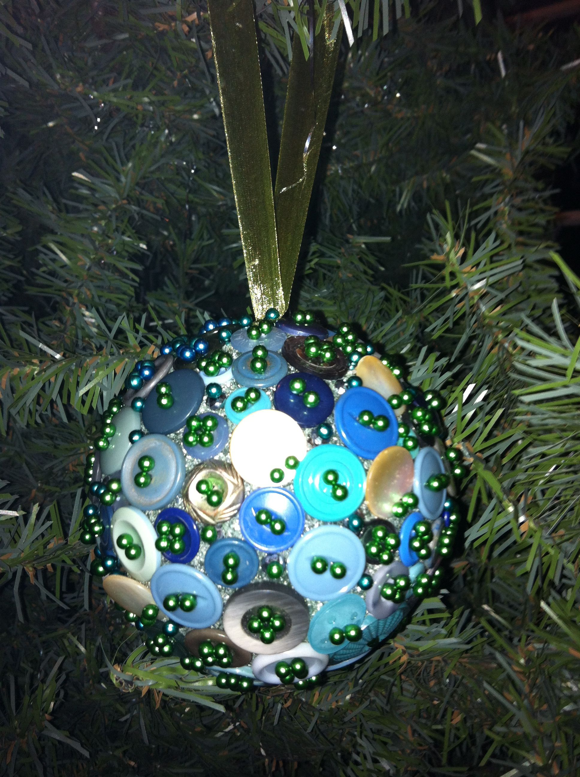 Home made button ornament.