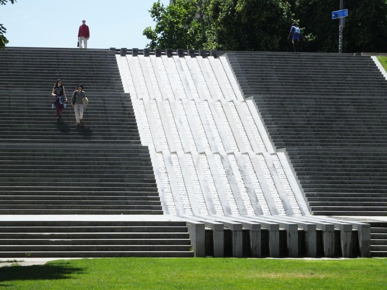 Water steps at Parc de Bercy