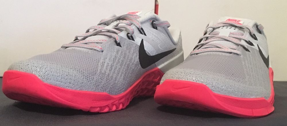 SZ.5 WOMEN'S Nike Metcon 3 849807 008 Wolf GreyRacer Pink