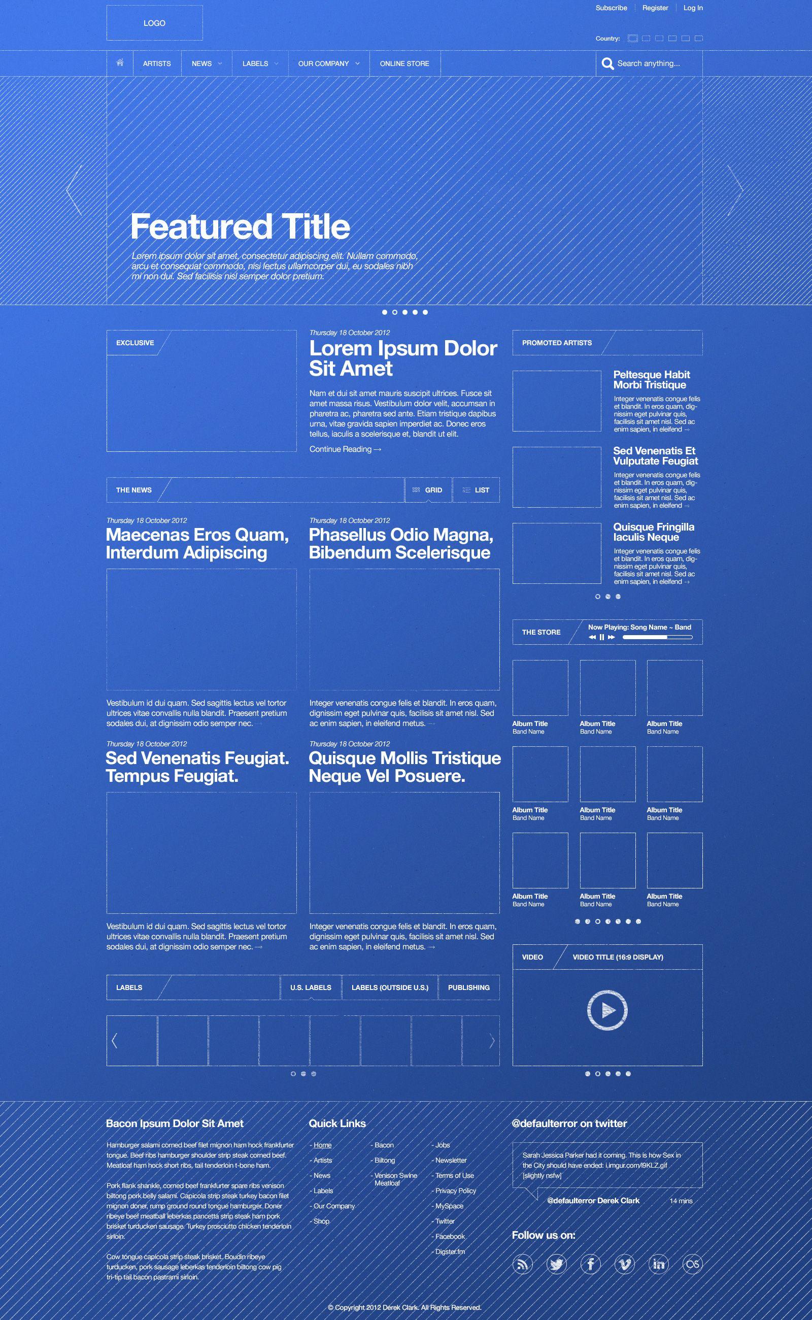 Blueprint themed wireframe designer derek clark ux ui blueprint themed wireframe designer derek clark malvernweather Image collections