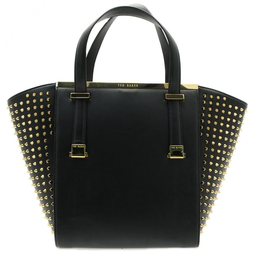 Ted Baker Womens Black Marion Stud Shopper Bag | Arm candy ...