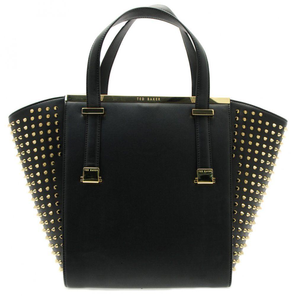Ted Baker Womens Black Marion Stud Shopper Bag | Arm candy ...