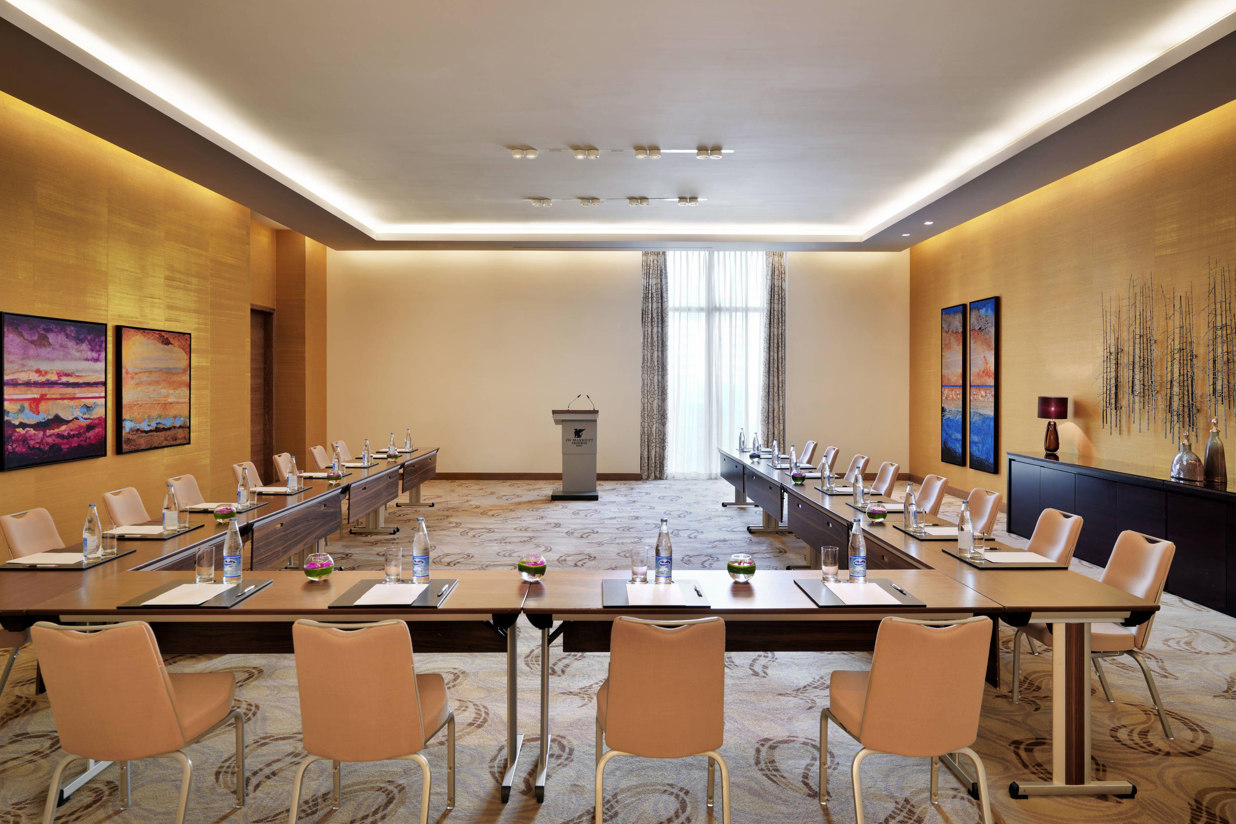 Jw Marriott Absheron Baku Khojasan Meeting Room U Shape Visiting Memorable Guest Hotel Design Hotel Meeting Hotel