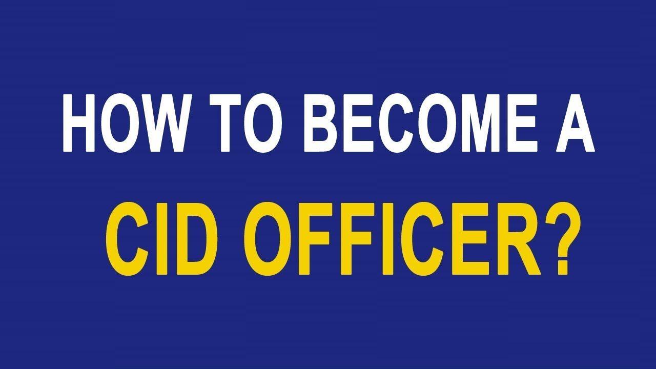 CID Stands For Crime Investigation Department  It Is A Crime