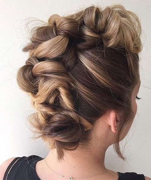 Cute Faux Hawk Updo Hairstyles For