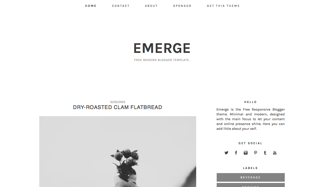 Minimal Clean Blogger Template. free professional blogger template ...
