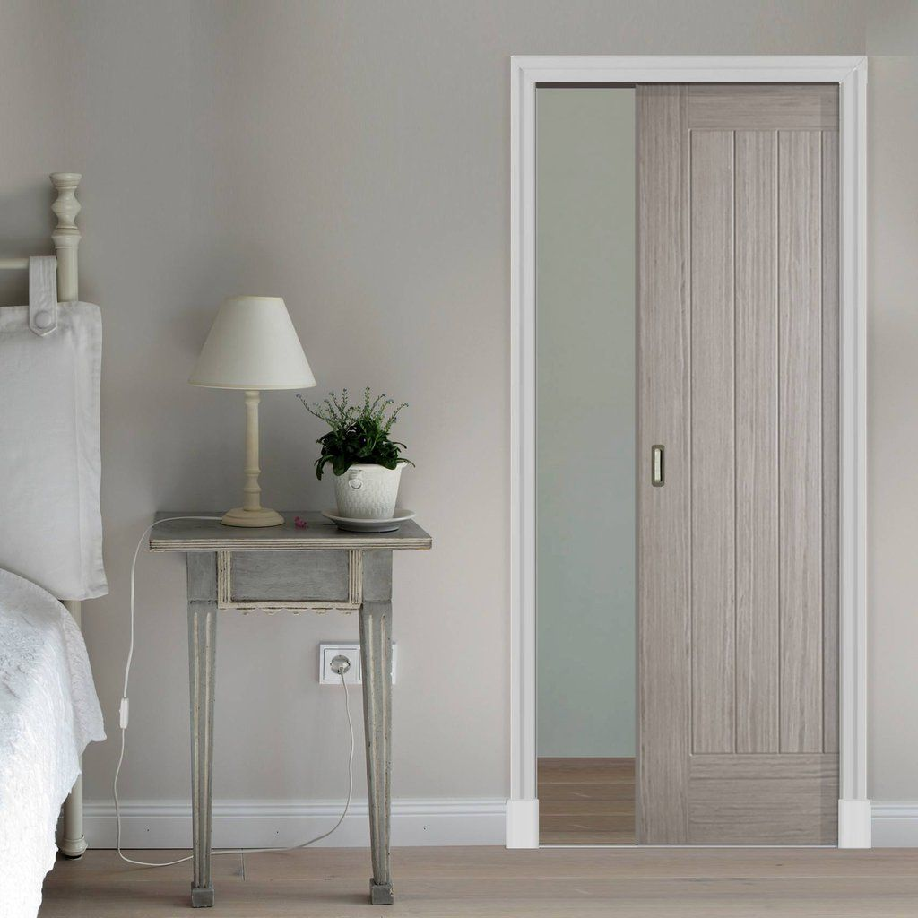 Somerset Light Grey Single Evokit Pocket Door