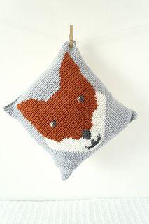 Fox Crochet Cushion Pillow