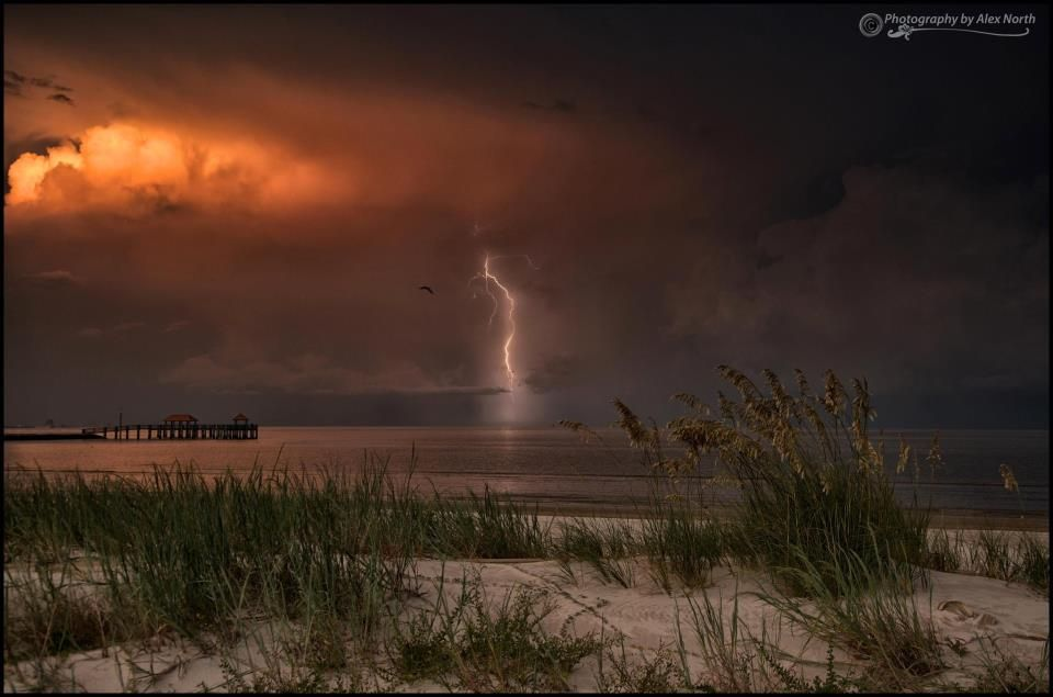 Lightening - Gulf of Mexico - photo by Alex North