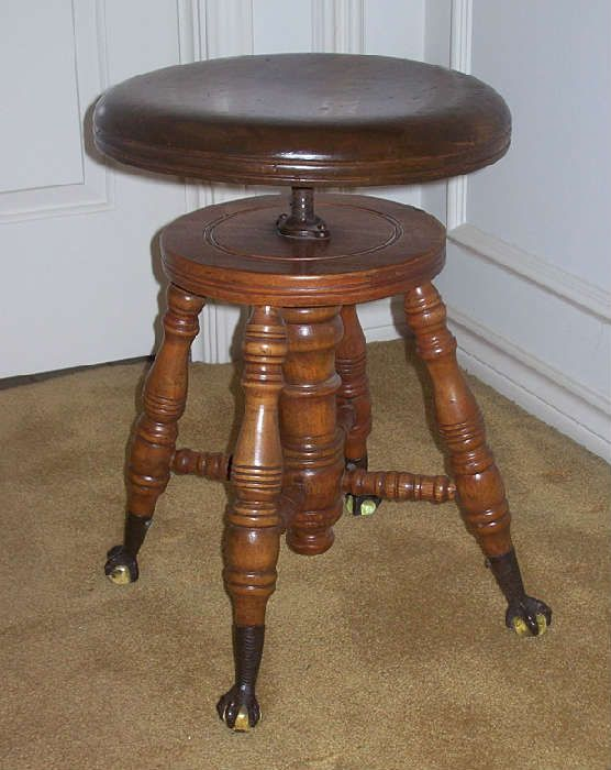Superb Very Cool Vintage Stool With Claw Feet Found On Caraccident5 Cool Chair Designs And Ideas Caraccident5Info